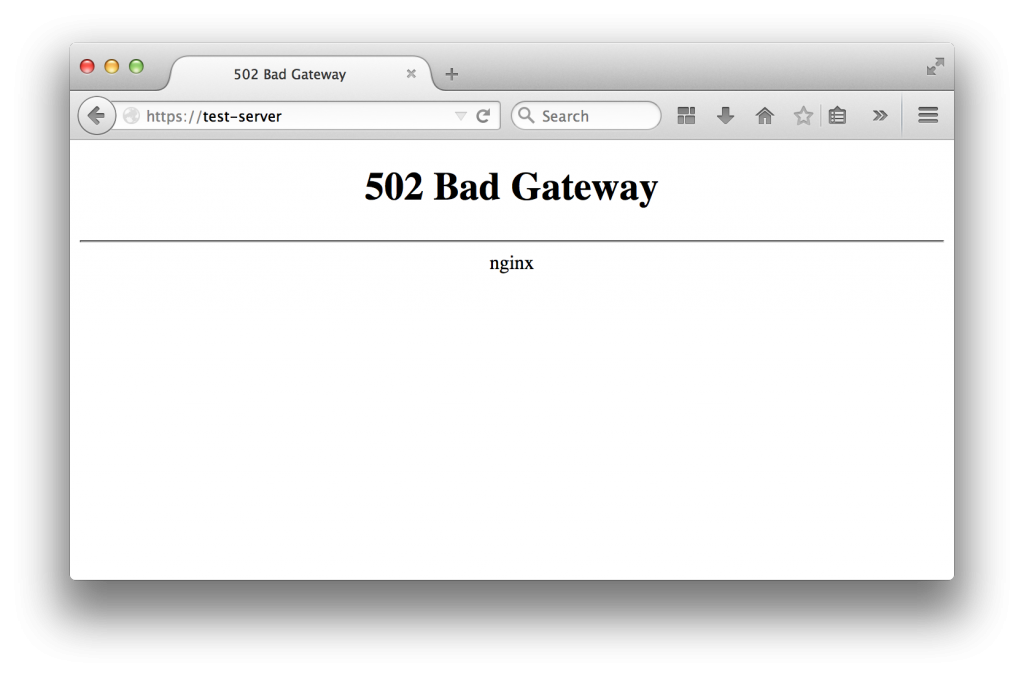 nginx bad gateway error message