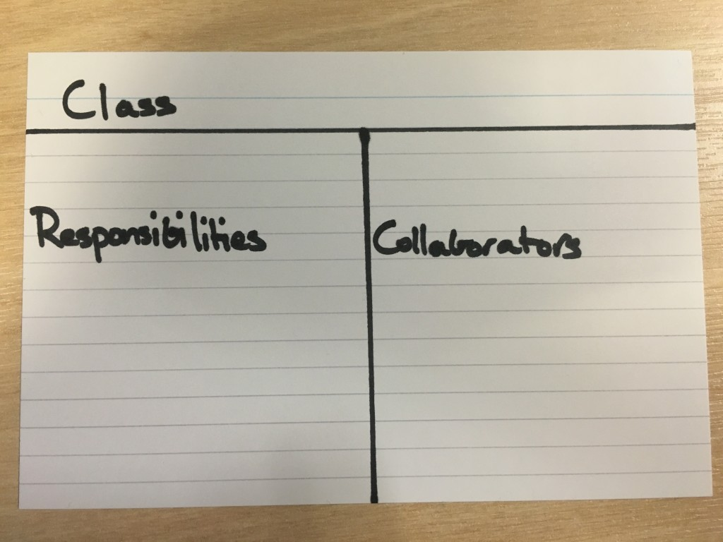 Class Responsibility Card