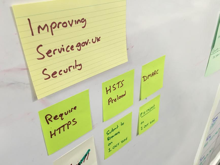 Post-it notes on the security updates