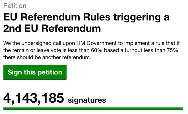 Petition: EU Referendum Rules triggering a 2nd EU Referendum