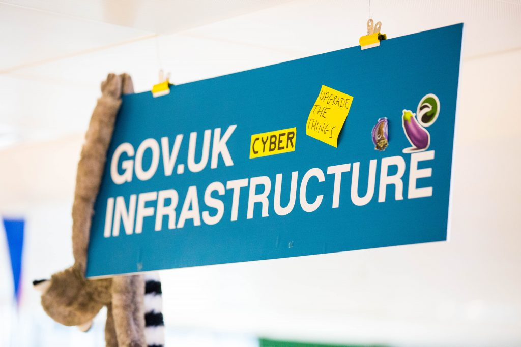 GOV.UK Infrastruture building sign