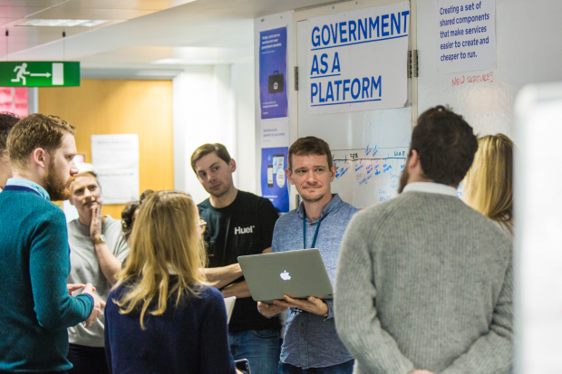 Government as a Platform team in their morning stand-up