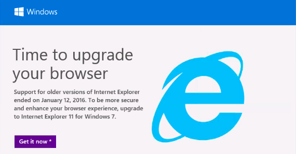 Changing our testing requirements for Internet Explorer 8, 9