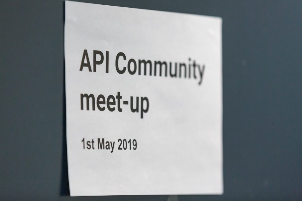 API Community Meet-up sign